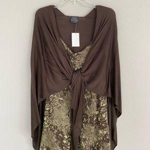 Midi Floral Dress and Shawl
